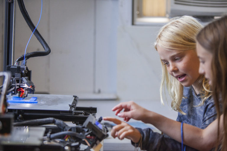Kids at Engineering class for kids